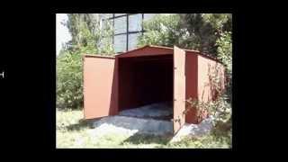 видео Сборный металлический каркас гаража в Санкт-Петербурге
