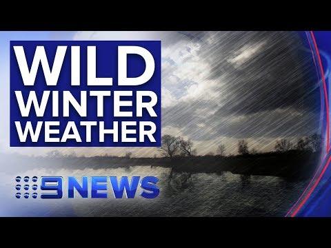 Snow Falls Just West Of Sydney While Storm Lashes Coast   Nine News Australia