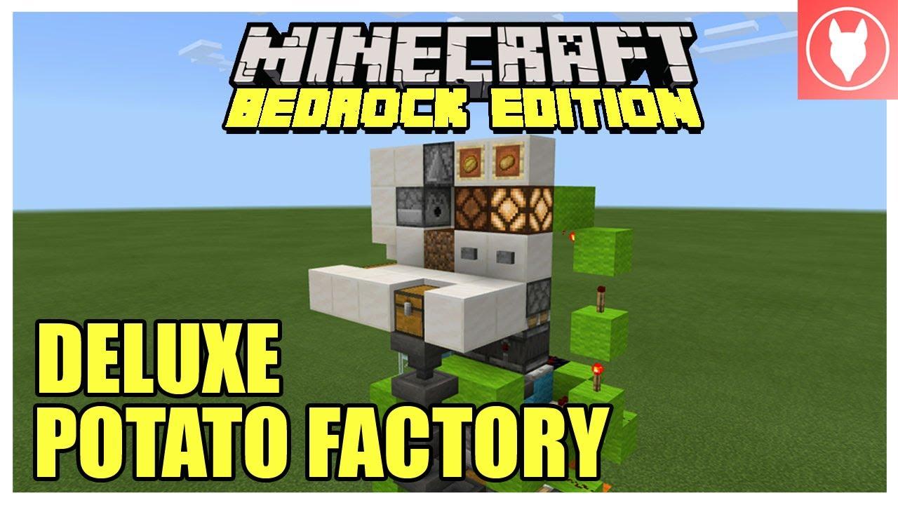 Minecraft Bedrock Deluxe Potato Farm Tutorial Xbox Mcpe Windows 10 Switch