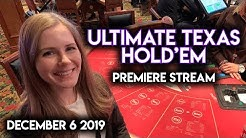 $1000 Ultimate Texas Holdem Premiere! Can I Catch a Good Run of Cards?