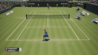 CoCo Vandeweghe vs Aliaksandra Sasnovich - AO International Tennis PS4 Gameplay