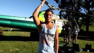 Stan Walker on the set of his newest music video in Southland
