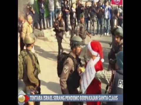 Tentara Israel Serang Pejuang Palestina yang Berdemo Menggunakan Baju Santa Claus - BIP 25/12
