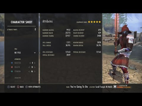 ESO MORROWIND: Stamina Nightblade build for PvP (Infinite Sustain and Highest survivability)