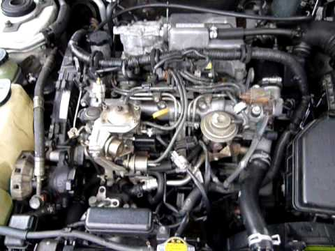 Toyota 2C-T engine runing - YouTube