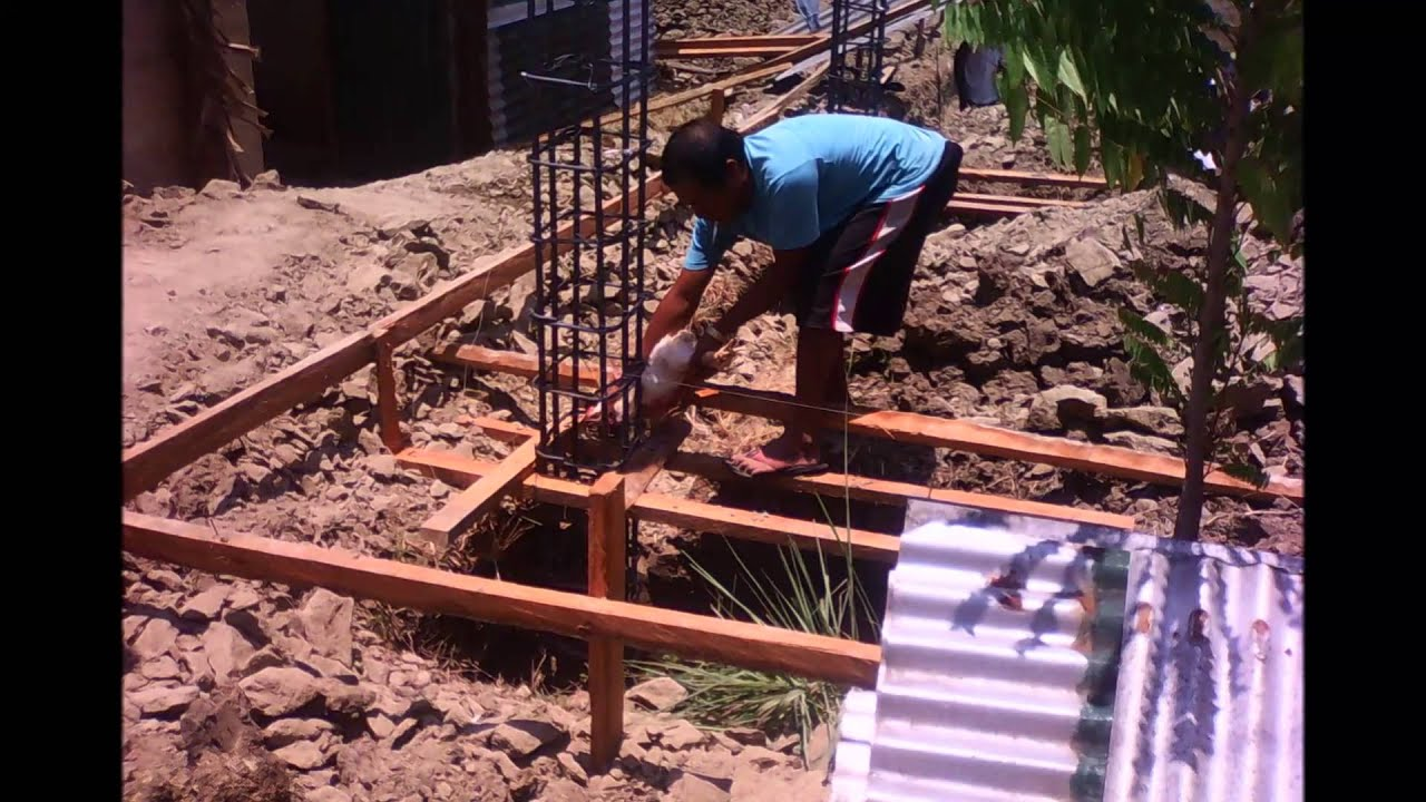 Ultratech Cement Foundation : Concreting of isolated footing by thetravelogue