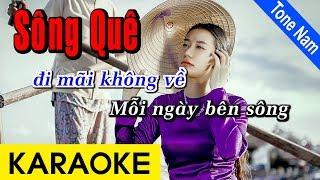 Sông Quê - Karaoke Beat | Tone Nam