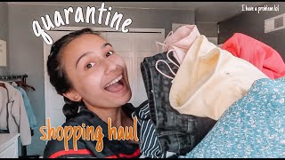 quarantined online shopping haul + try on