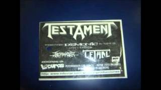 TESTAMENT - THE BURNING TIMES (CEMENTO - 1998)