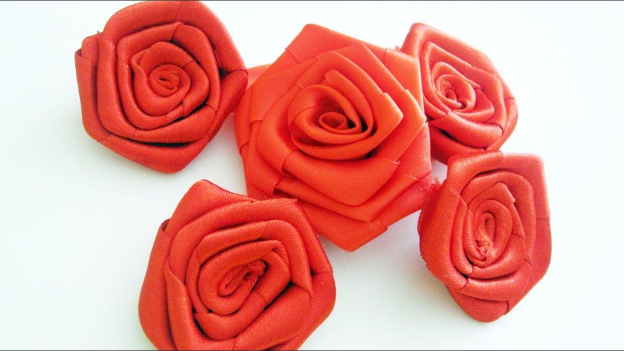 Episodio 700- Cómo hacer rosas grandes con listón [SALUDOS ...