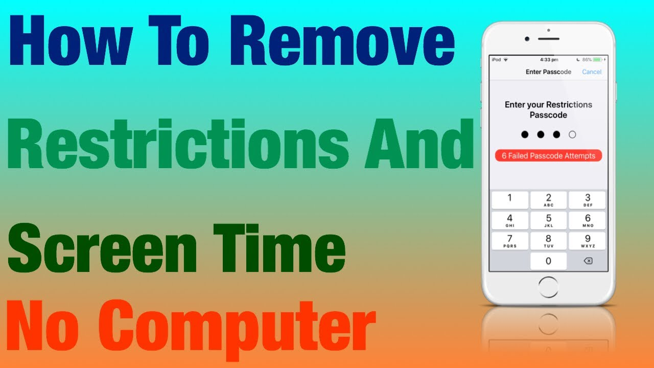How To Remove Screen Time And Restrictions Password iOS 12, iOS 11
