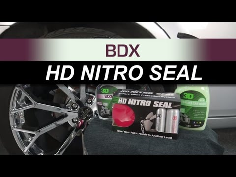 BDX on Mag Wheel with HD Nitro Seal on silver Automotive  Montan Wax for auto detailing and poilsh