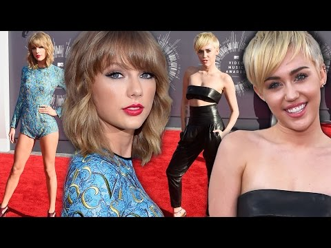 Taylor Swift & Miley Cyrus Battle of Blondes - 2014 VMA Red Carpet Style