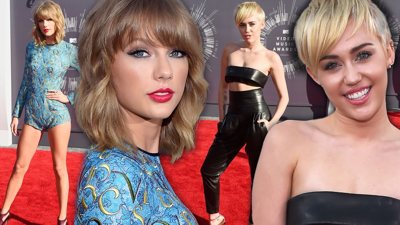 Taylor Swift Amp Miley Cyrus Battle Of Blondes 2014 Vma