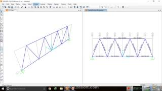 Analysis of Truss by SAP 2000