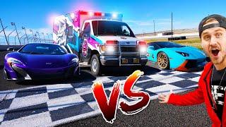 Racing The Ambulance VŠ SUPERCARS! (Lamborghini)