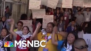 Pence Sees Border Horror First Hand As Protests Spread Nationwide | Rachel Maddow | MSNBC