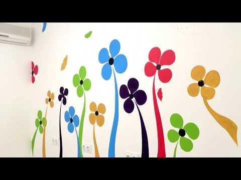 Простая роспись стен своими руками (wall painting)