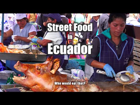 Street Food in Ecuador - Street Food Market Otavalo