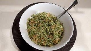 Салат из брокколи с соусом из морской капусты веган сыроедческий рецепт