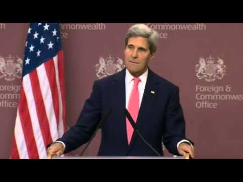 US Secretary of State John Kerry meets with William Hague on Syria