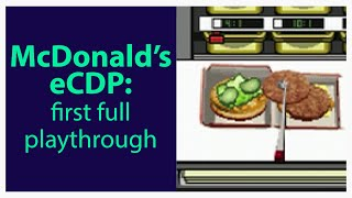 McDonald's lost Nintendo DS eCDP Training Game: Full Playthrough!