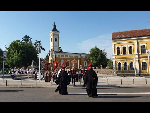 Kraljevo - Slavska Litija Simboličnim Zatvaranjem Kruga štiti Grad Od Nesreće