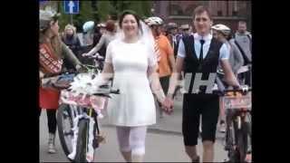 Первая свадьба на велосипедах сыграна в Нижнем Новгороде