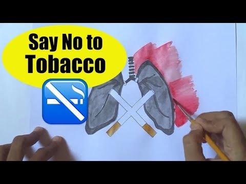 World No Tobacco Day | poster drawing - Social message through drawing
