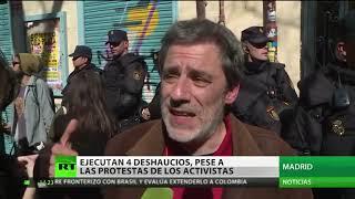 Siete detenidos en el desahucio de cuatro familias en el centro de Madrid
