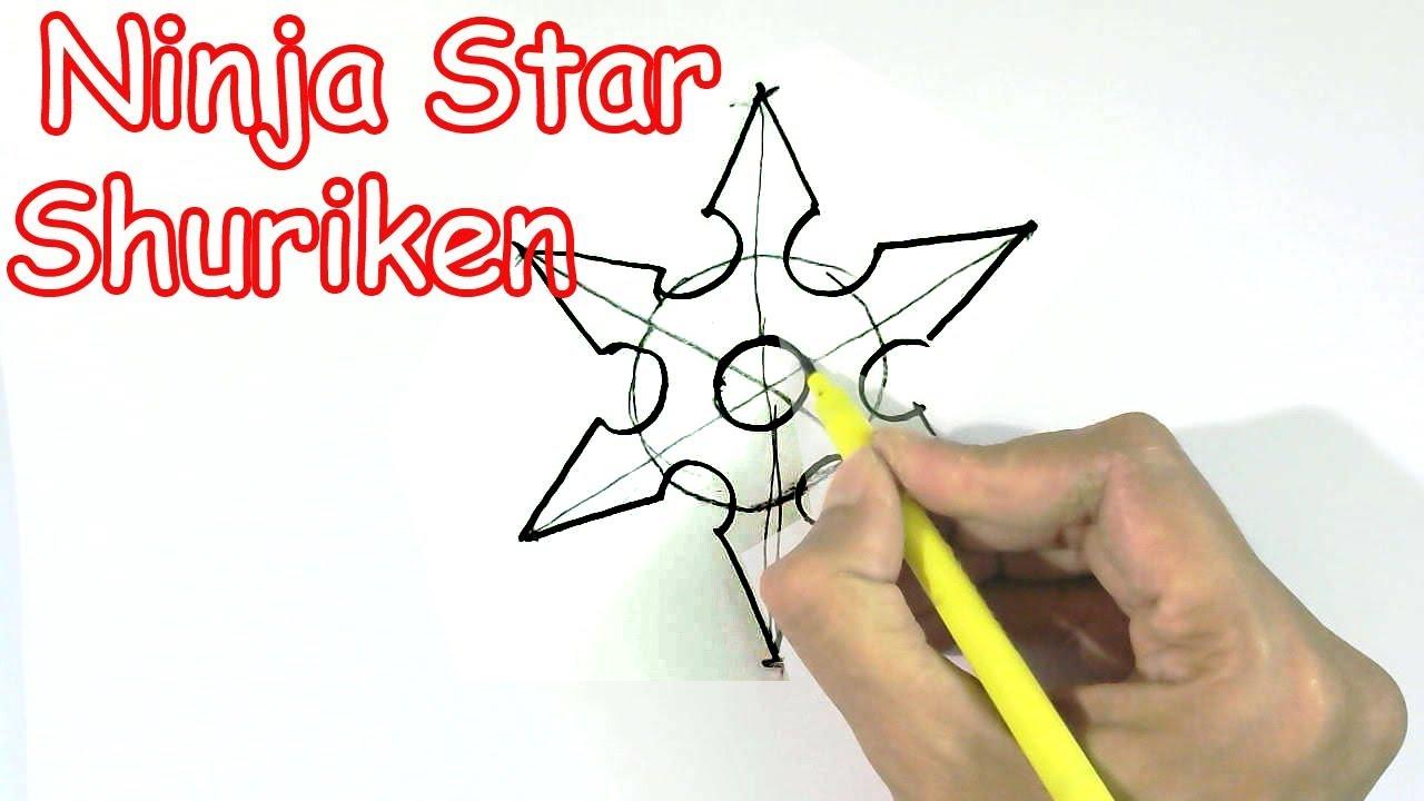 Easy Ninja Star Drawings