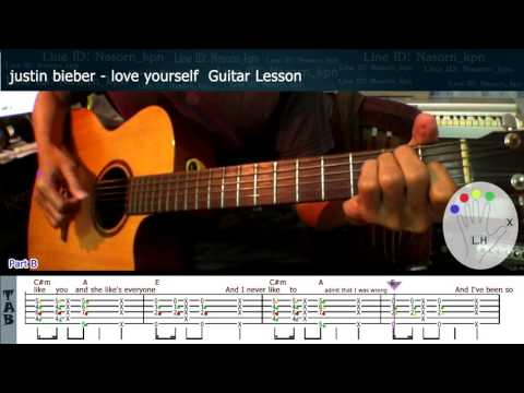Justin Bieber - Love Yourself - Guitar Lesson (Free Tabs)