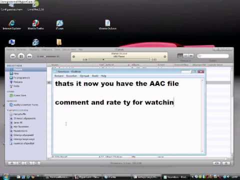 how to get a mp3 files to AAC file in 50 seconds