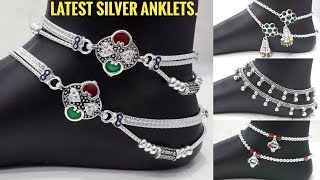 Latest Rajasthani Bridal Silver Payal Design | Silver Anklet Design | Silver Anklet