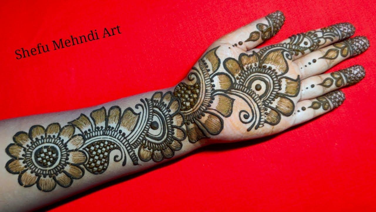 arabic front mehndi design