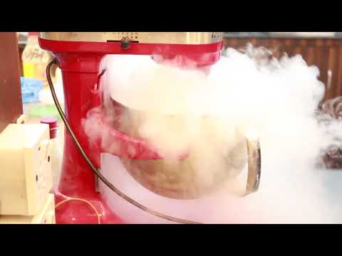 liquid nitrogen icecream first time in nepal by rollin cafe