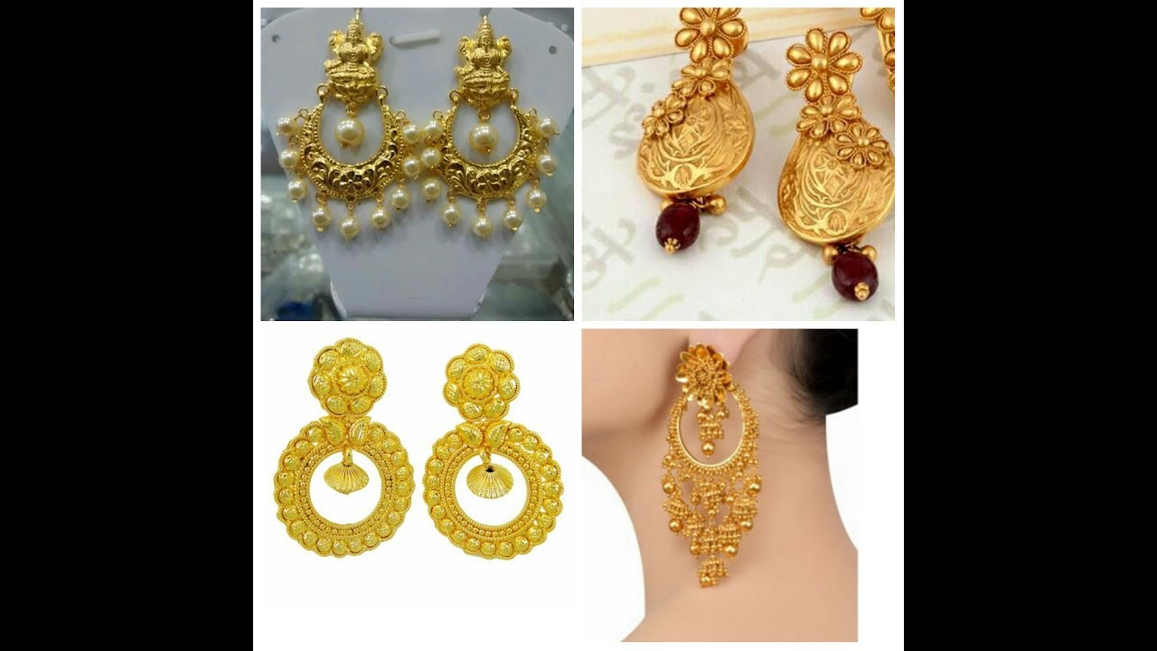 Antique Gold Earrings Designs Latest Jhumkas