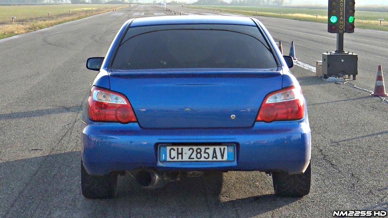 550+HP Subaru Impreza STi Cosworth Doing Launches on the Drag Strip ...