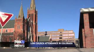 Low church attendance rates in Colorado