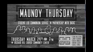 Maundy Thursday 2016