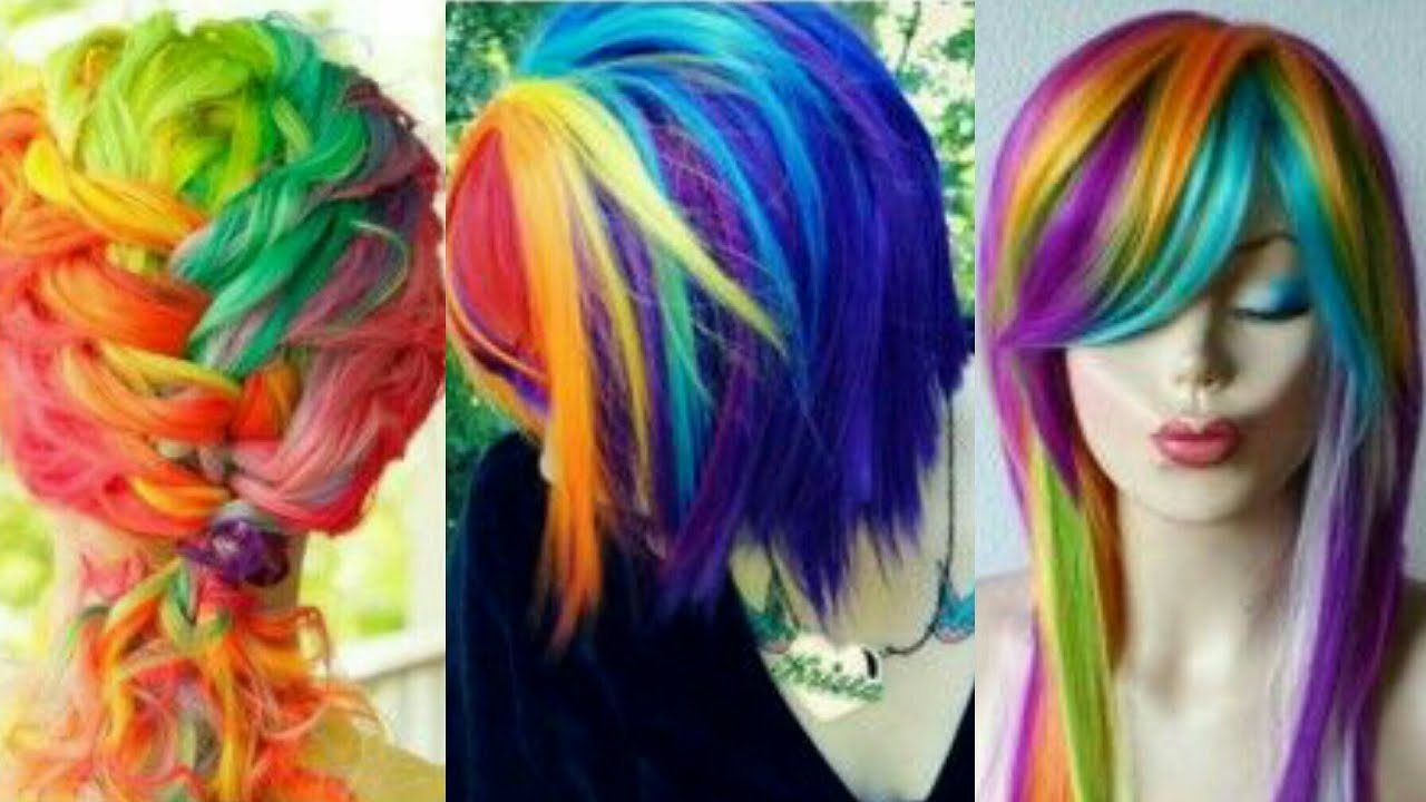 Crazy Hair Color Ideas Awesome Hair Style 2017 Youtube