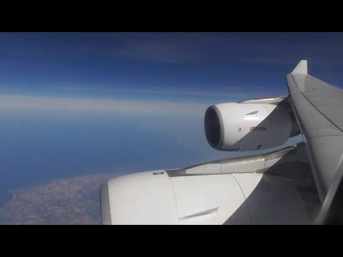 Iberia Airbus A340-642   Madrid to London Heathrow *FULL FLIGHT*