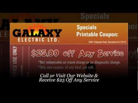 Electrician Falls Church VA - Receive $25 Coupon: Galaxy Electric (703) 525-5588