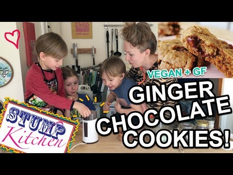 Chewy & Delicious GINGER CHOCOLATE COOKIES! (Vegan + Gluten Free!)