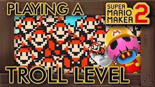 Playing A Troll Level For The First Time in Super Mario Maker 2