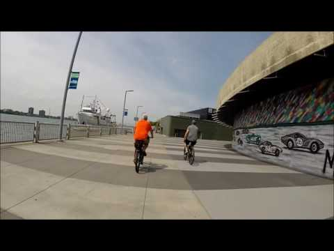 Biking the Dequindre Cut bike and walk path in Downtown Detroit (Part 2 of 2) - 2017
