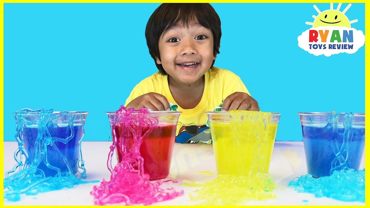 Instant worms polymer science experiments for kids to do for Fun projects for kids to do at home
