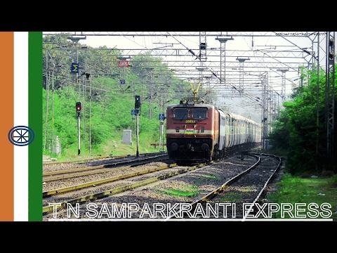 Blazing Past || Tamil Nadu Sampark Kranti Flat 110 Kmph Show || Indian Railways