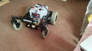 Wheel Chair Bot- R/C Control Mower / Snow / Trimmer - Initial power on -Take #2