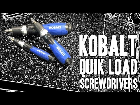 Kobalt QL3 Quik Load Screwdrivers